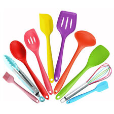10Pcs Kitchen Silicone Cookware Set Non-stick Cooking Utensils Tools Baking Kit
