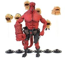 "Mezco Dark Horse BPRD Mignola Hellboy W/ Floating Heads 6"" Action Figure [A18]"