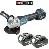 Makita DGA519 18V 125mm Brushless X-Lock Angle Grinder With 2 x 3.0Ah Batteries