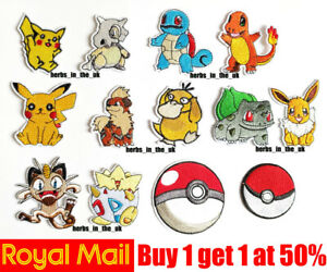 Japanese Pokemon Pocket Monsters Ball Patch Badge Iron On Sew On