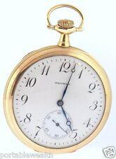 23 Jewels 68gr Pristine Shape Waltham Pocket Watch 14k Yg