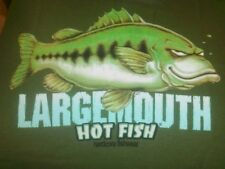 NEW MEN'S XL SHIRT LARGE FRESHWATER MOUTH BASS BY HOT FISH HARDCORE FISHWEAR!