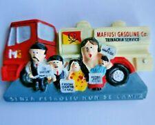 Corsica Family on Strike 3D Resin Souvenir Travel Holiday Tourist Fridge Magnet