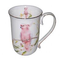 New Fine Bone China Cockatoo Coffee Tea Mug w Handle Cup 405cc In Box Gift
