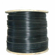 RG6 Quad Shield 3GHz Coax Coaxial Cable 18 AWG Bare Copper Black HDTV TV 1000ft
