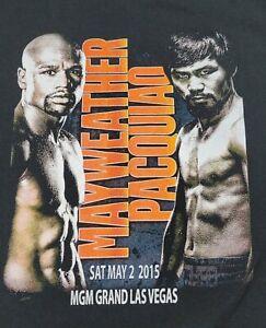 Mayweather Vs Pacquiao MGM Grand Las Vegas Fight Promo Tshirt XL/2XL Boxing EUC