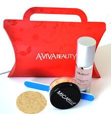 Mica Beauty  Foundation MF-2 Sandstone + Perfecting Primer+ A-viva File+ Red Box