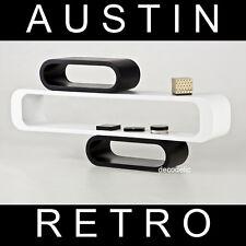 CD Rack Regal Retro Style Set Wandmontage Blickfang Oldschool schwarz weiß #16A1
