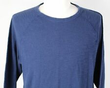NEW Lucky Brand Lived-In Thermal Crew Neck Shirt MENS XL Blue Cotton