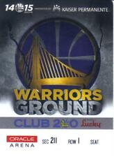 2014-15 GOLDEN STATE WARRIORS SEASON PASS ORACLE ARENA CHAMPIONS
