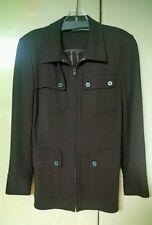 DKNY brown 4 pocket zippered Jacket Size 2