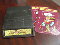 Vintage 1982 Intellivision Burgertime Video Game Cartridge with Overlays