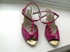 Marks and Spencer Patent Leather Mid Heel (1.5-3 in.) Wedge Women's Shoes
