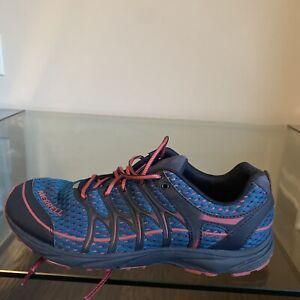 Merrell Mix Master Move Glide Running Shoes Women's 9.5 Blue Pink J598320 EUC