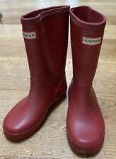 RED WELLIE HUNTER BOOTS BOYS UK 12 EU 31 TOWIE WINTER XMAS SMART BOHO SCHOOL