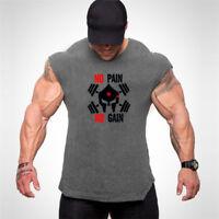 Men's Sport Workout Tank Top Stringer Gym For Active Wear Bodybuilding Vests