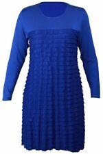 Vestiti da donna stretch blu a fantasia righe