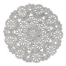"50 - 6"" SILVER Metallic Foil MEDALLION Paper Lace DOILIES | Silver Doily"