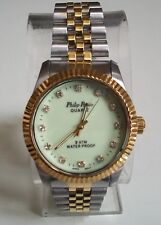 MEN'S SILVER/GOLD FINISH FASHION INSPIRED STYLE DRESSY/CASUAL WATCH