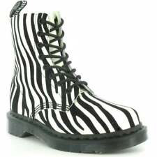 New DR MARTENS DOC MARTENS Women's Size 9 Pascal 8 Eye Zebra Print Moto Boots