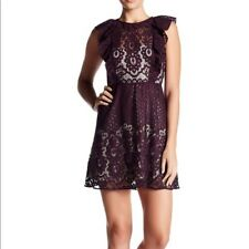 NWT Parker Ruffle Sleeve Lace Dress Cordovan Size Small