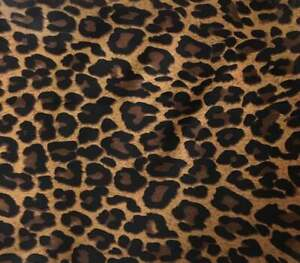 Leopard Dress fabric Sewing Polyester fabric,Leopard Blouse fabric Leopard fabric by the yard Satin look Bronze Brown