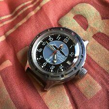 "Russian Diver 200m VOSTOK Amphibia ""Submarine Captain"" Men Military Watch"
