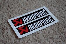 Akrapovic Red/White Motorbike Exhaust Kawasaki Ducati Yamaha Decals Stickers
