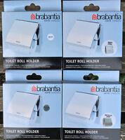 BRABANTIA TOILET ROLL HOLDER CHOICE OF FINISH MATT STEEL WHITE MINT BRILLIANT ST