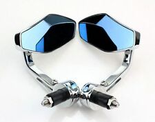 "7/8"" CHROME MOTORCYCLE HANDLE BAR END MINI MIRRORS FOR BOBBER CLUBMAN CAFE RACER"