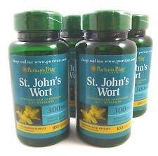 4X St. Johns Wort 300 Mg 400 Capsules 0.3% Hypericin Depression Anxiety ADHD OCD