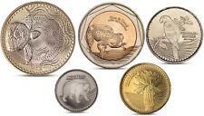 COLOMBIA 5 COINS SET 50, 100, 200, 500, 1000 PESOS TURTLE BIMETAL 2012 2013 UNC