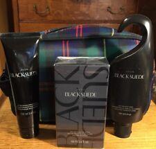 Avon Holiday Dopp Kit Black Suede 4 Pc Set