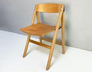 1970's Danish solid beech folding chair by Holstebro Møbelfabrik