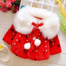 Kids Girls Cloak Faux Fur Coat Fleece Short Jacket Princess Dress Cover Infant