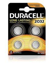 4 x Duracell Batterie CR2032 Lithium 3V Knopfbatterie CR 2032 NEU 1x 4er Blister