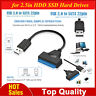 """USB2.0 to SATA 22pin Adapter Converter Cable for 2.5"""" HDD SSD Hard Disk Drive"""