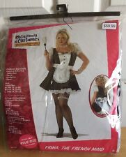 French Maid 3x Plus Size Costume 20-22 Halloween New Women's  Sexy