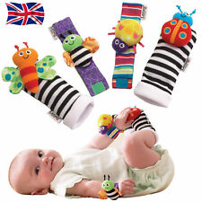 Rattle Set /Baby Sensory Toys Foot-finder Socks/Wrist Rattles Bracelet