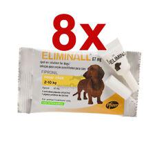 8 PIPETTES ELIMINALL ANTIPARASITE CHIENS PETITS 2-10KG (Générique FRONTLINE)