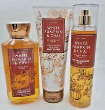 Bath & Body Works White Pumpkin & Chai  Collection