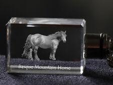 Cheval des montagnes du Pays basque, porte-clés, en cristal, Crystal Animals FR