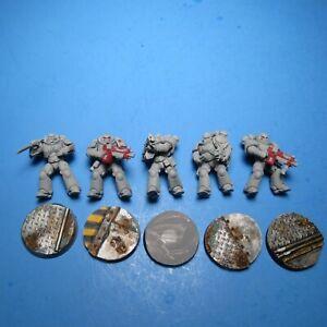 GW Warhammer 40K Space Marines Primaris Intercessors x5 Red Scorpions i36