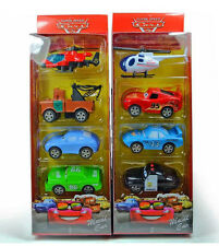 8pcs Disney Pixar Cars Lightning McQueen Action Figures Cake Topper Decor Toy