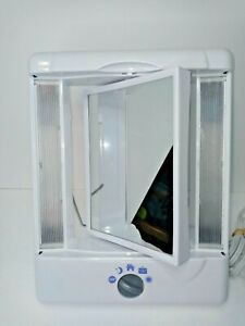 Lighted Makeup Mirror With Magnification Model TM8LWP Corded 4 Light settings