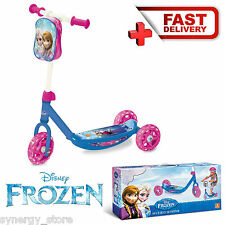 KIDS SCOOTER 3 Wheeled Pink Minibike Disney Frozen Kingdom Children Toddlers Age