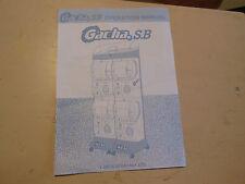 TOMY GACHA S.B.   arcade game    OWNERS manual
