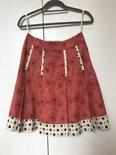 ALANNAH HILL!!!** Fine Corduroy flowery and polka dot pleated Skirt size 8