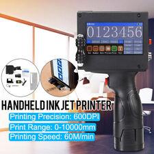 Protable Handheld Smart Date Coder Inkjet Printer Ink Coding Machine LCD
