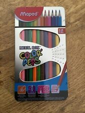 Maped Color Peps Colour Pencils 12 Shades Metal Box Assorted  Maped